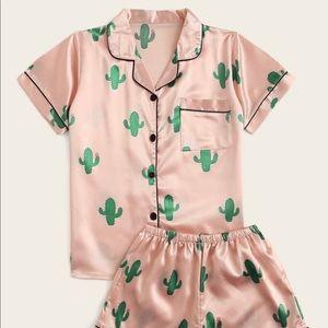 Pink Cactus Pajama Set | XS